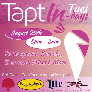 TaptIn Tuesdays Flyer