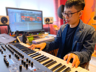 Basically, a music producer works with different keyboards.