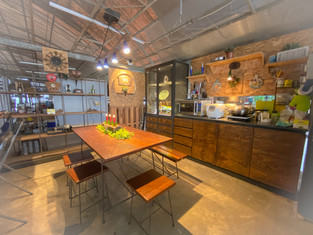 The place is transformed into a homely communal space