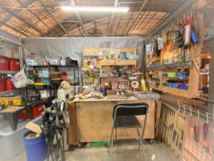 An artist's work station