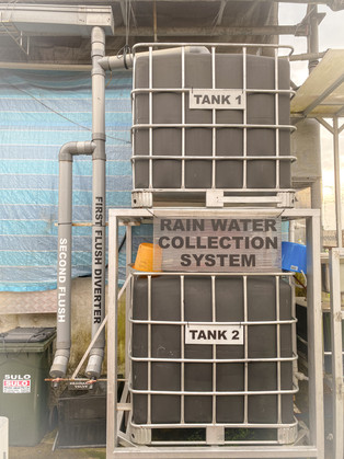 The Cage at Tengah has a water filtration system for washing hands and things