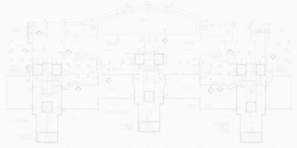 Blueprints from engineering permits