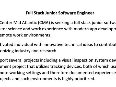 Junior Software Engineer, Best Jobs & MD Department of Labor Job Fair Opportunities