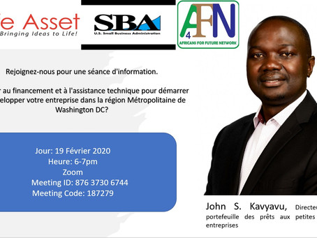 Webinar: Financial Education and Technical Support To Start and Grow Your Business in The DMV, USA