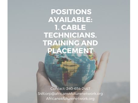 Positions Available: Cable Technicians.