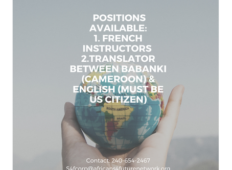 Positions Available: French Instructors. Translators.