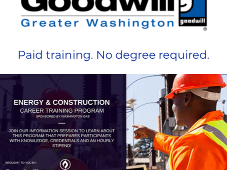 Energy & Construction Paid Training + Prince George's County Scholarships