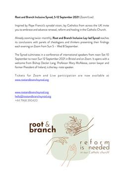 RB Sample short piece for parish newsletter