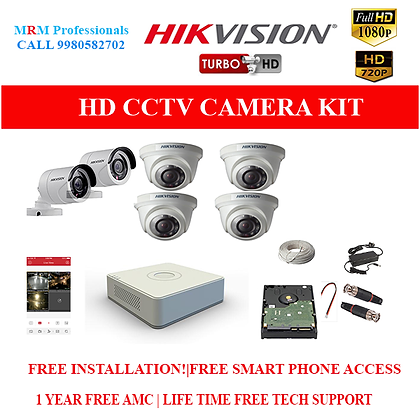 12 HIKVISION 1MP HD BEST QUALITY CAMERA KIT WITH ALL ACCESSORIES