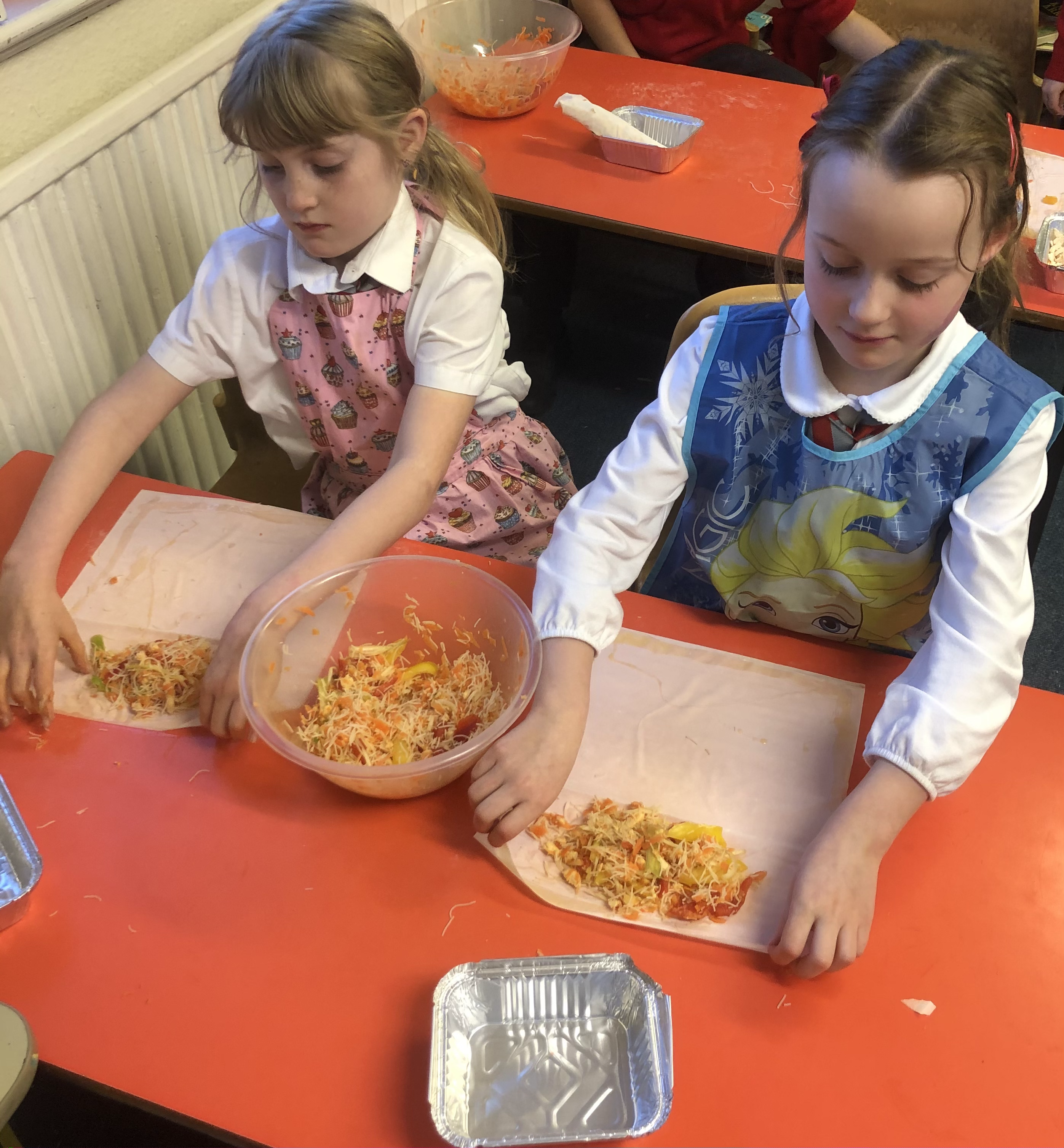 Cookery club - spring rolls