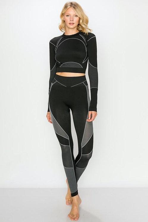 Flex Long Sleeve Crop Top and Legging Set