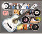 All componets of guitar shadowbox