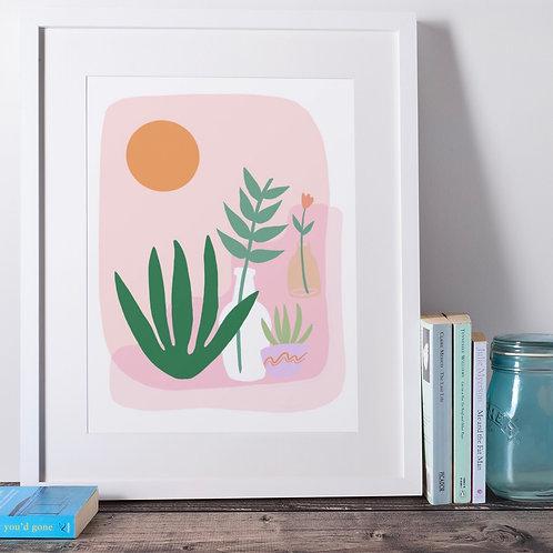 Desert garden print