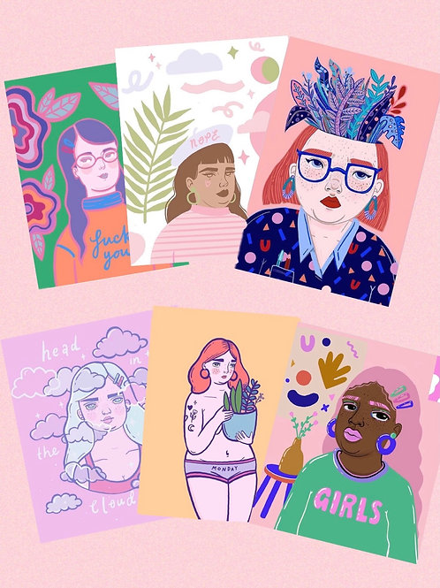 art print bundle : I love girls