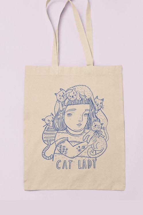 cat lady tote