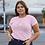 Thumbnail: Spring time babe pink tee, Size XL