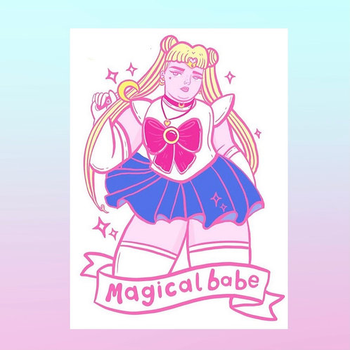 Magical babe art print