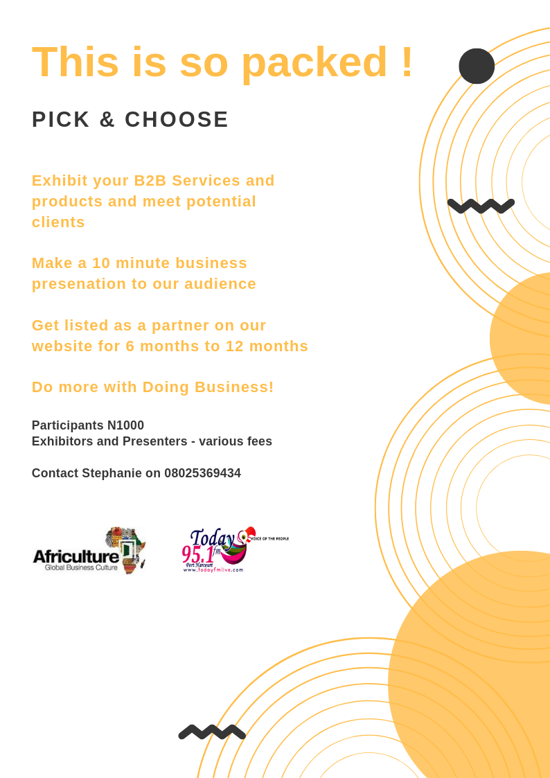 Click here to sign up for the October Edition of the Doing Business Fair 2019