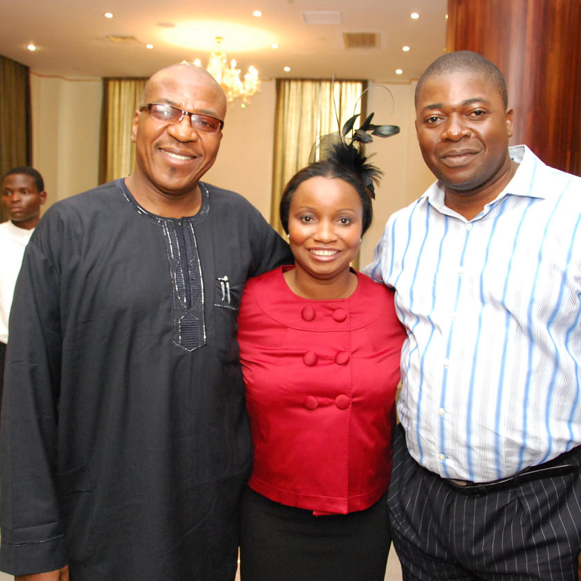 Stephanie Pius with Soni Irabor and Akpan Iniobong