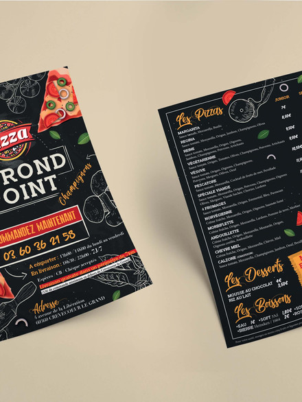 Flyer Pizza le Rond Point