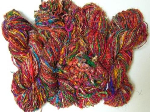 Knitted Rib Himalayan Sari Silk Beanie