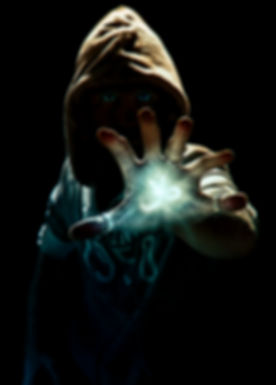 Wizard making spell with six finger's ha