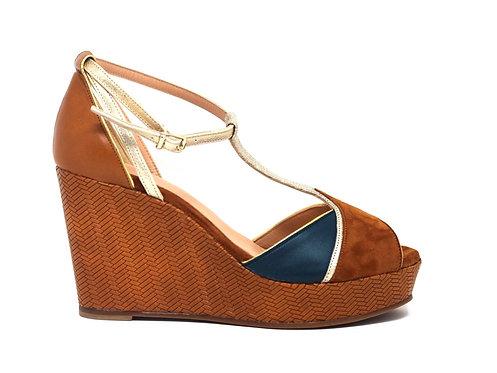 chaussures marque créatis - talon compensé - chaussure fait main
