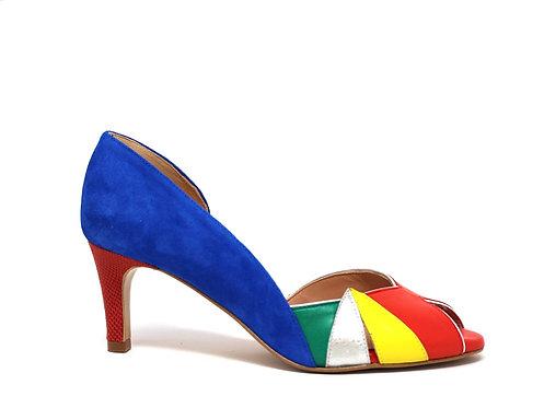 chaussure créatis - stiletto coloré - chaussure fait main