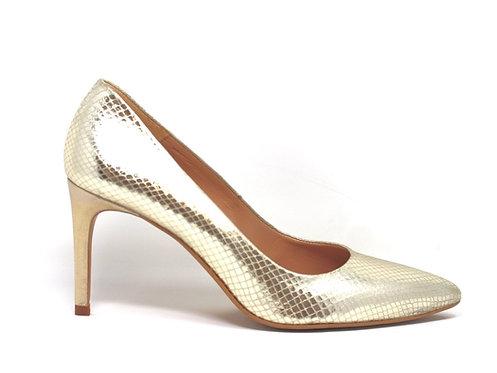 escarpins argenté - chaussure fait main - marque Créatis
