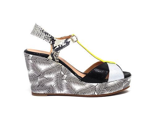 Chaussure Créatis - talon compensé - chaussure fait main