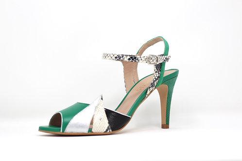 sandale talon vert