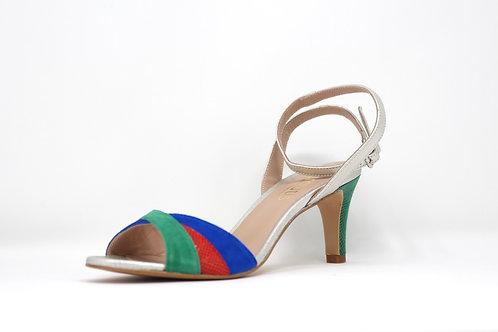 sandale Creatis rouge imprime