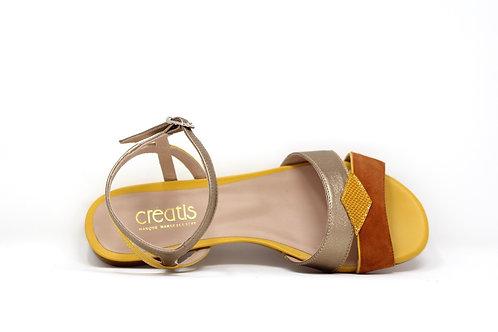 sandale creatis jaune