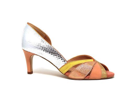 Stiletto colorés - collection printemps/ été 2021 - chaussure fait main - créatis