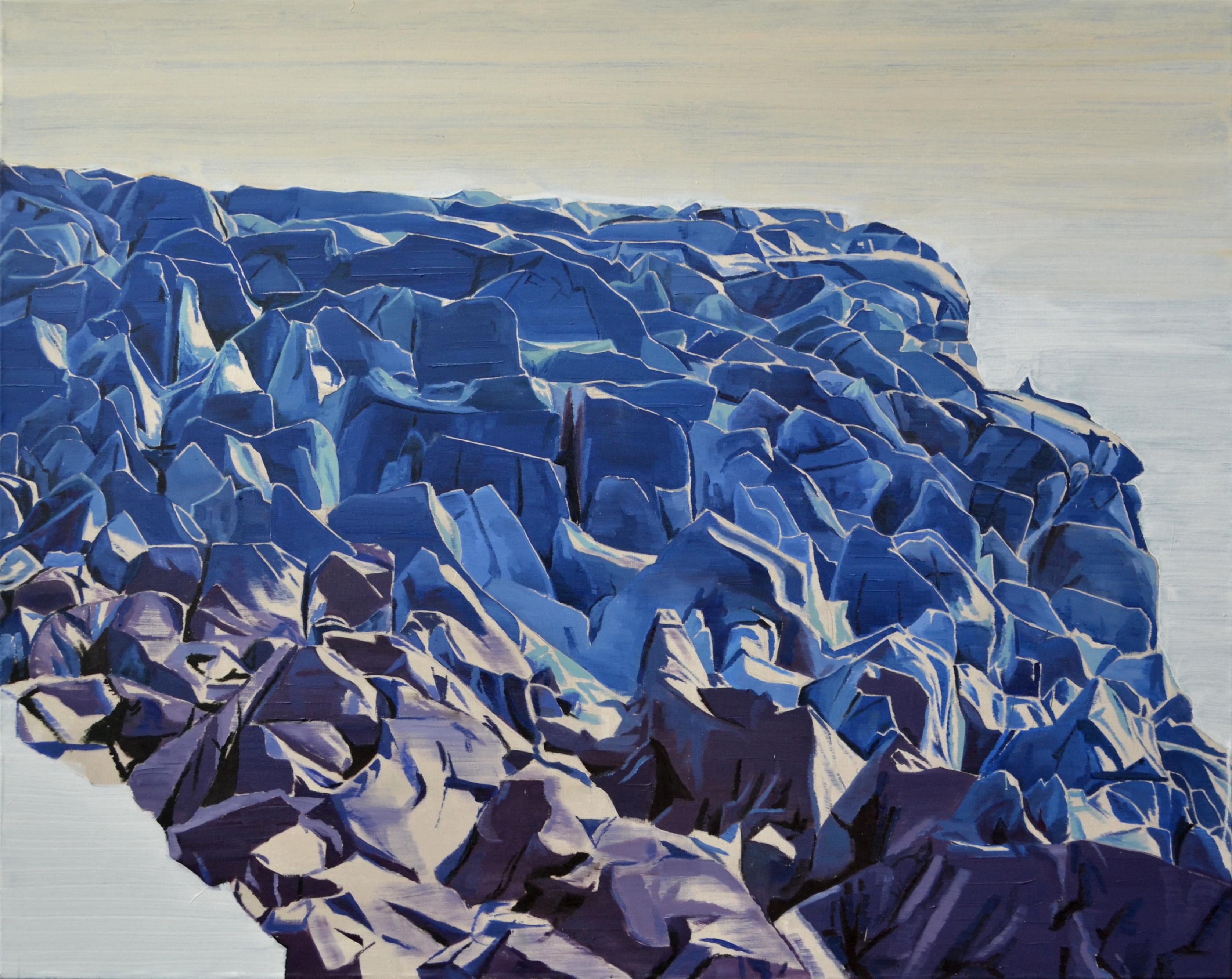 (2016) Sinking Blue (200x160)