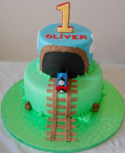 Thomas 1st Birthday Cake