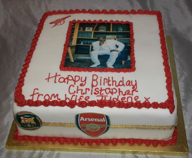 Arsenal Photo Image Cake