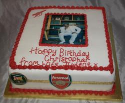 Arsenal Photo Image Cake