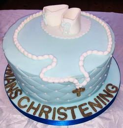 Babies christening cake