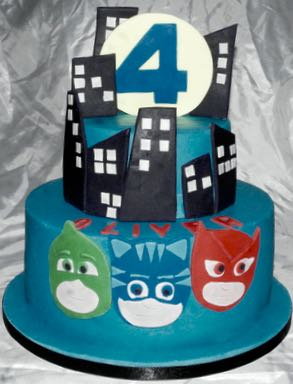 4th Birthday PJ Masks Cake