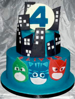 4th Birthday PJ Masks Cake