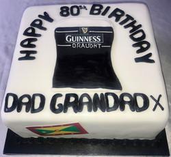 80th Birthday Guinness Birthday Cake