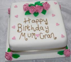 Birthday Cake for Mum and Gran
