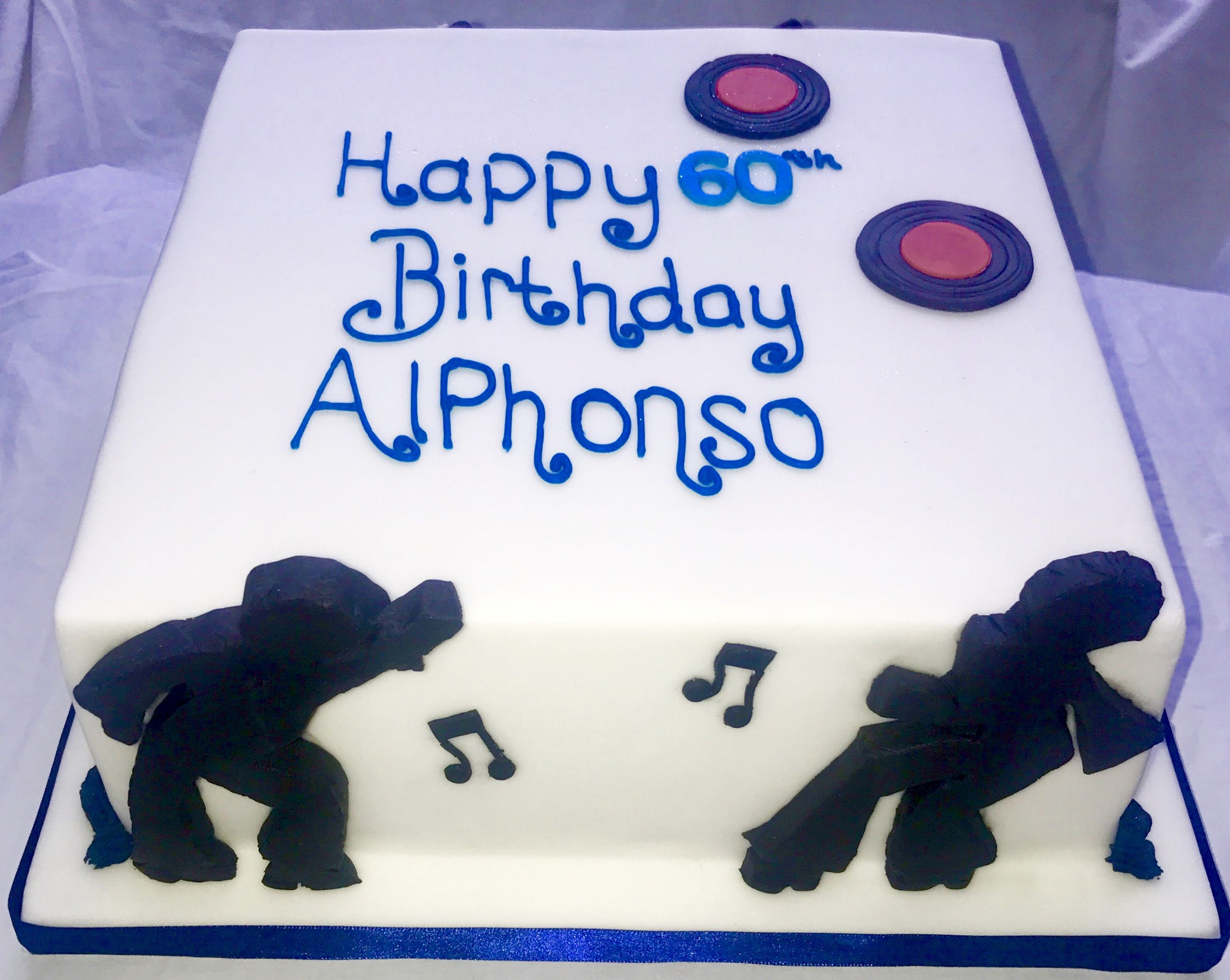 60th Birthday Dancing Figures Cake