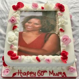 60th Photo Birthday Cake