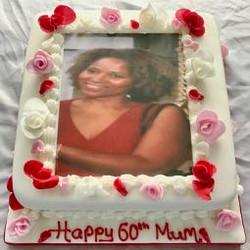 60th Photo Birthday Cake