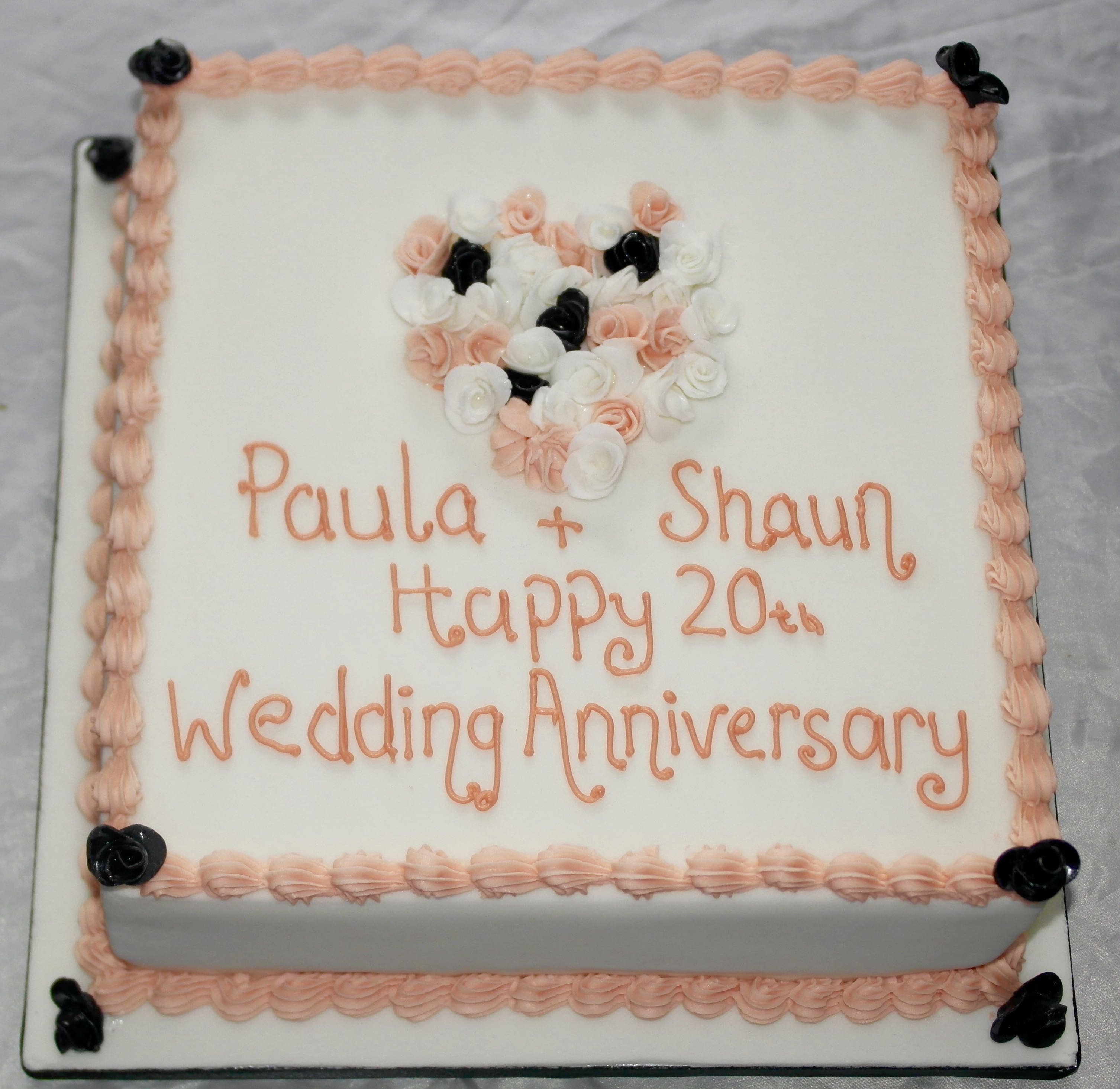 20th Wedding Anniversary Cake