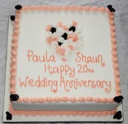 20th Wedding Anniversary Cake