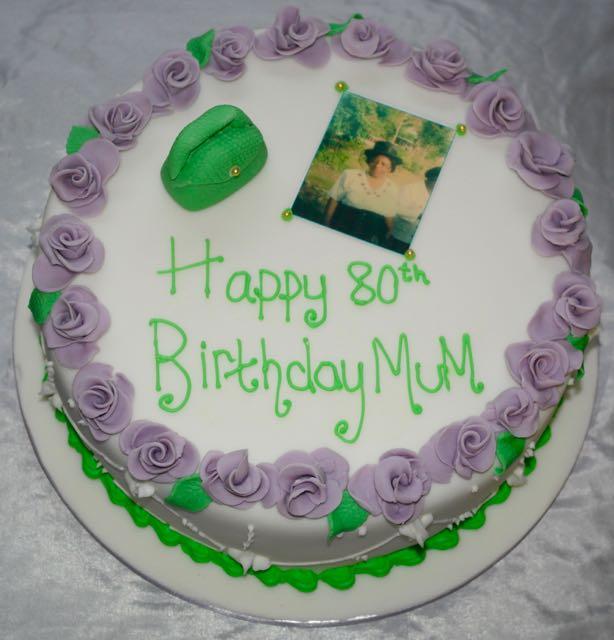 80th Birthday Photo Cake