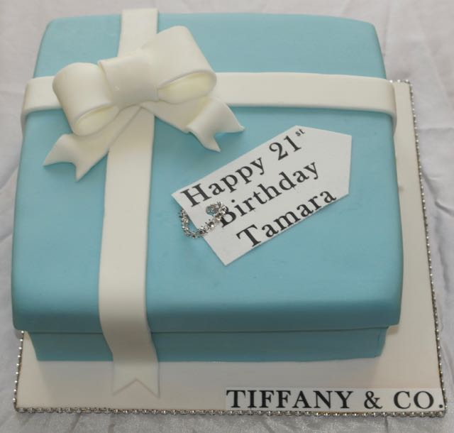 21st Birthday Tiffany Cake